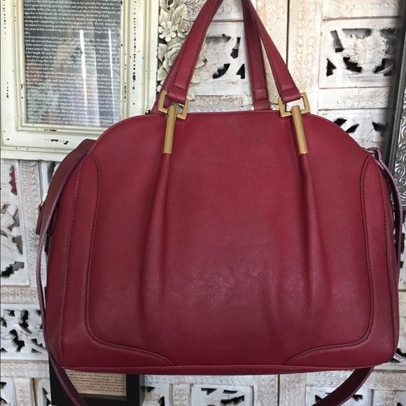 JustFab Handbags - Burgundy nice leather satchel/shoulder 👜👍🏼❤️
